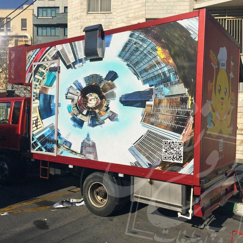 چاپ استیکر (چاپ وینیل) | ماشین فست فود سیار اختاپوس