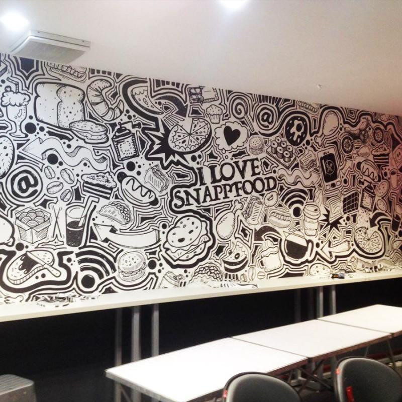 چاپ کاغذ دیواری سفارشی | اسنپ فود