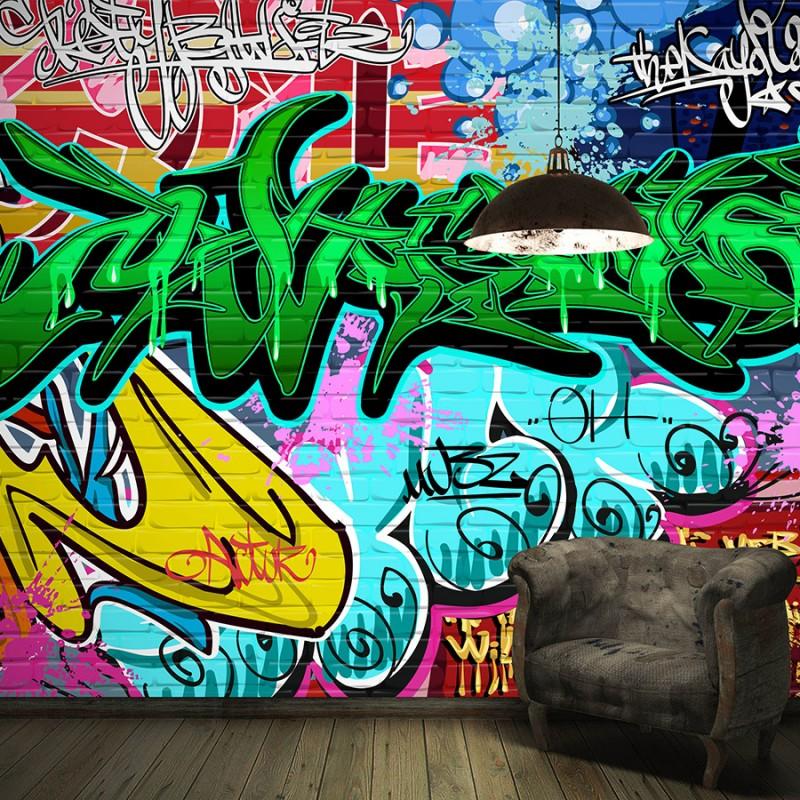 چاپ کاغذ دیواری سفارشی | نمونه نقاشی خیابانی