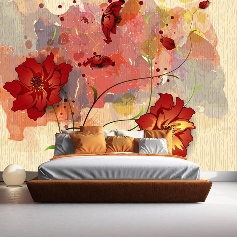 چاپ کاغذ دیواری سفارشی | نمونه نقاشی