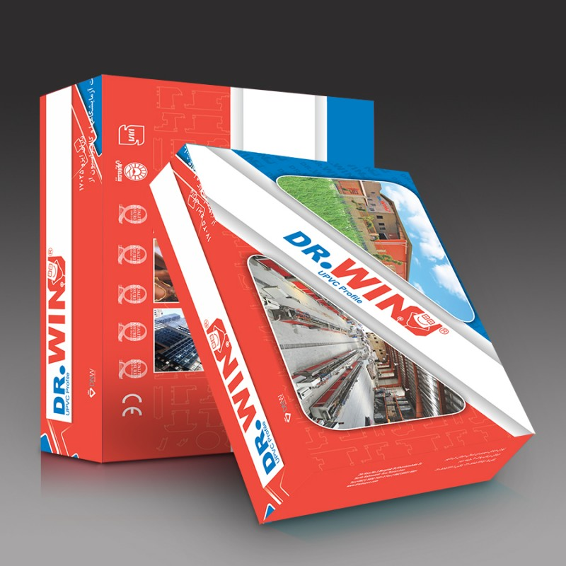 چاپ افست |چاپ و بسته بندی جعبه سطح مقطع پروفیل درب و پنجره