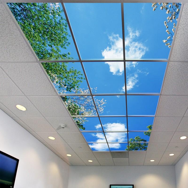چاپ سقف نور | نمونه آسمان مجازی